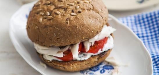 PHFM Makreelbroodjes met kruidenkwark en tomaat